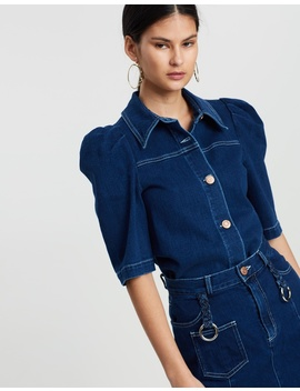 Denim And Braids Top by See By Chloé