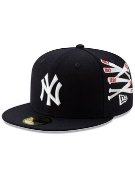 New York Yankees New Era Spike Lee Champion Collection Stacked Bat Logo 59 Fifty Fitted Hat   Navy by New Era