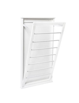 Honey Can Do® Large Folding Wall Mount Drying Rack In White by Bed Bath And Beyond