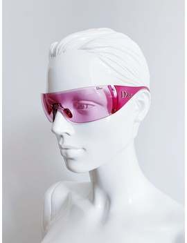Hot Pink Dior Ski 6 Shield Sunglasses by Etsy