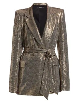 Slim Line Sequin Jacket by Badgley Mischka