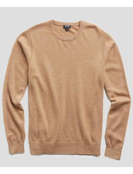 Cashmere Crewneck Sweater In Camel by Todd Snyder