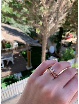 Dainty Twig Engagement Set, Rose Gold Branch Bridal Set, Nature Engagement Set by Etsy