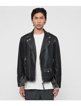Hawley Leather Biker Jacket by Allsaints