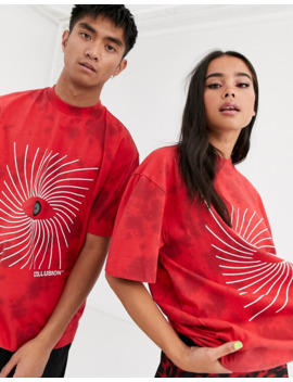 Collusion Unisex T Shirt With Eye Print by Collusion