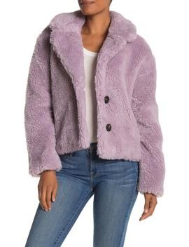 Cropped Faux Fur Jacket by Avec Les Filles