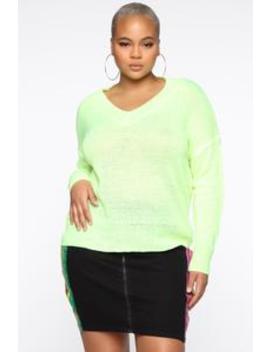 Bring Heaven To You Sweater   Neon Yellow by Fashion Nova