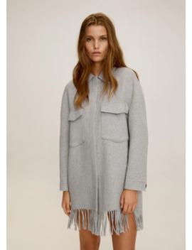 Fringed Wool Blend Jacket by Mango