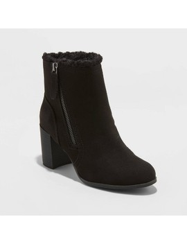 Women's Carmelo Microsuede Sherpa Lined Booties   A New Day™ by A New Day