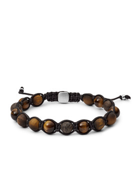 Tiger's Eye And Bronzite Bracelet by Fossil