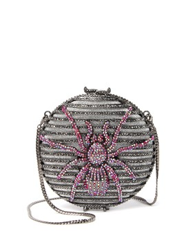 Iridescent Spider Swarovski Crystal Embellished Clutch by The Nude Face