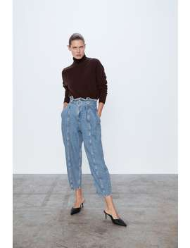 Z1975 Belted Slouchy Denim Jeans by Zara