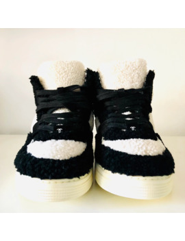 Chanel A/W 2019 Shearling Hi Top Sneakers by Chanel  ×