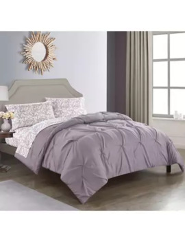 Nova 5 Piece Reversible Queen Comforter Set In Lavender by Bed Bath And Beyond