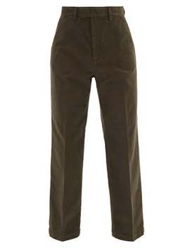 Chino 24 Moleskin Cotton Chino Trousers by Our Legacy