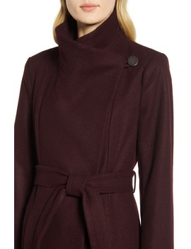 Belted Wool Blend Maxi Coat by Kenneth Cole New York