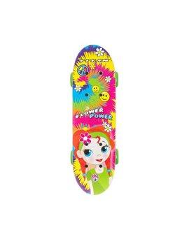 "17"" Titan Flower Power Princess Girls' Complete Skateboard, Multi Color by Titan"