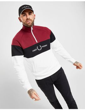 Fred Perry Colour Block 1/4 Zip Sweatshirt by Fred Perry