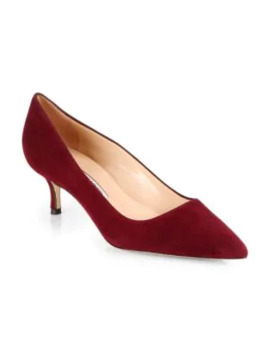 Bb 50 Suede Pumps by Manolo Blahnik