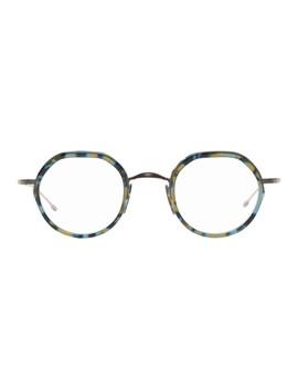 Tortoiseshell & Gunmetal Tb 911 Glasses by Thom Browne