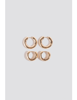 Mini Hoop Earrings Gold by Na Kd Accessories