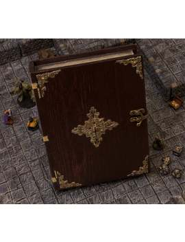 Spell Book Dice Tray Box With Antique Gold Accent by Etsy