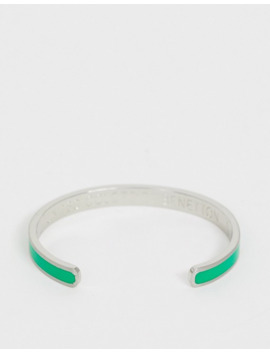 Benetton Diversity Collection Thin Bracelet With Think Slogan by Asos