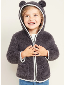 Faux Fur Critter Zip Hoodie For Toddler Girls by Old Navy