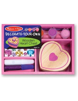 Melissa & Doug Decorate Your Own Wooden Heart Box Craft Kit by Melissa & Doug