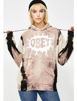 Brown Energy Flash Hoodie by Obey