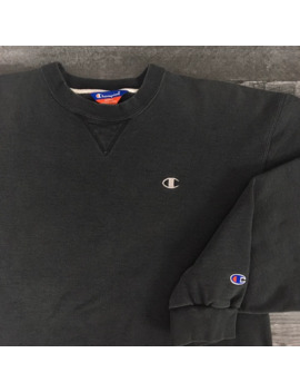 Vintage Black Champion Crewneck by Vintage  ×  Champion  ×