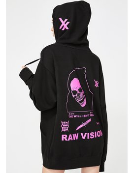 Pink Raw Vision Hoodie by Alien Body