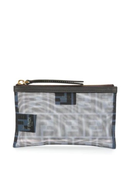 Ff Pattern Mesh Pouch by Fendi