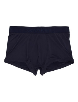 Navy Micro Low Rise Boxer Briefs by Calvin Klein Underwear