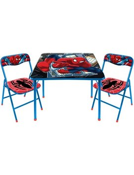 Marvel Spider Man 3 Piece Square Table And Chair Set by Marvel