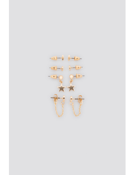 Mixed Mini Earstud Set Gold by Na Kd Accessories