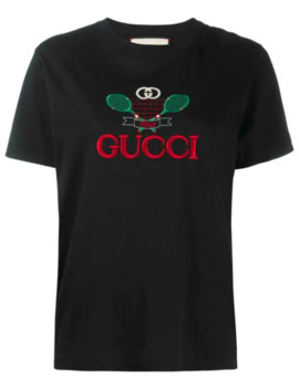 Gucci Tennis Embroidered T Shirt by Gucci