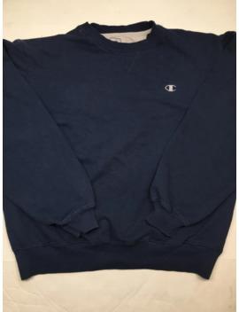 90s Champion Crewneck Sweatshirt Navy Blue Sweat Suit by Vintage  ×  Champion  ×