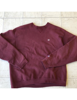 Maroon Champion Crewneck by Champion  ×