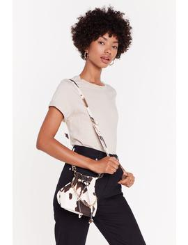 Want Herd Me Wrong Cow Faux Leather Crossbody Bag by Nasty Gal
