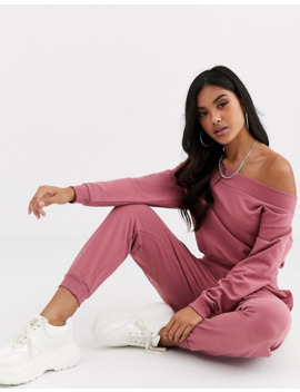 Asos Design Tracksuit Off Shoulder Sweat / Jogger by Asos Design