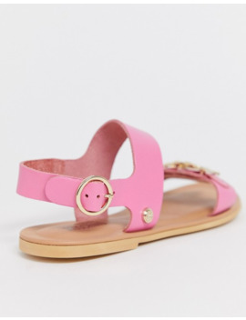 Love Moschino Two Part Sandal In Pink by Love Moschino