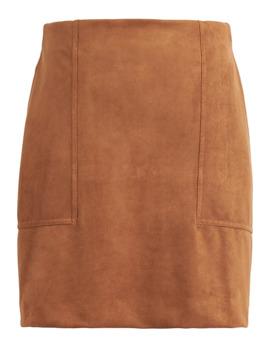 Petite Vegan Suede Mini Skirt by Banana Repbulic
