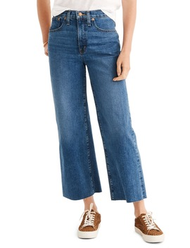 Raw Hem Wide Leg Jeans by Madewell