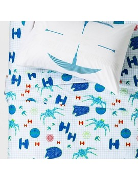 Star Wars Glow In The Dark Sheet Set White by Shop Collections