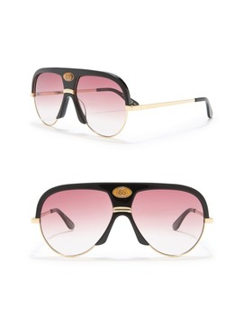 59mm Modified Navigator Sunglasses by Gucci
