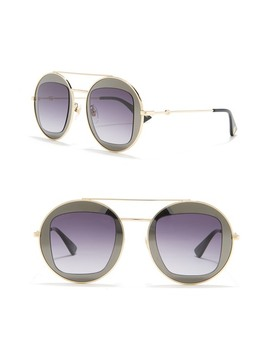 47mm Cutout Double Frame Round Sunglasses by Gucci