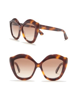 53mm Irregular Butterfly Sunglasses by Gucci