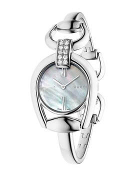 Horsebit Diamond Accent Bangle Watch, 28mm by Gucci