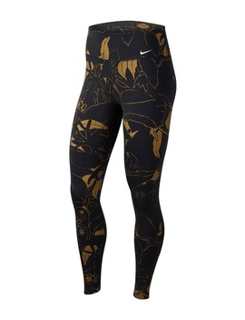 Printed High Rise Leggings by Nike